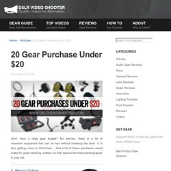 20 Gear Purchase Under $20
