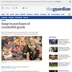 Surge in purchases of counterfeit goods