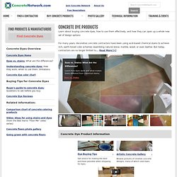 Concrete Dyes - Purchasing & Application Tips