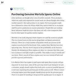 Buy Genuine Wartsila Diesel Engine Spares Online