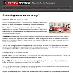 Purchasing a new leather lounge?