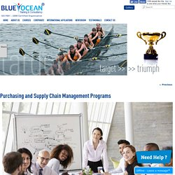 Purchasing and Supply Chain Management Programs