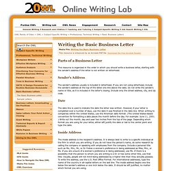 how to write a business letter purdue owl