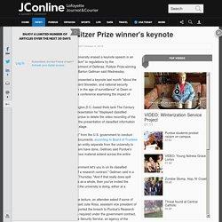 Purdue erases Pulitzer Prize winner's keynote