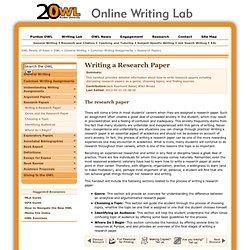 Characteristic essays