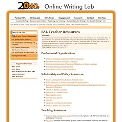 ESL Teacher Resources