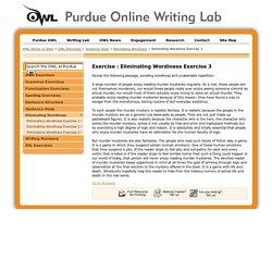Purdue OWL Writing Exercises