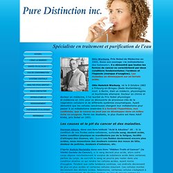 Pure Distinction inc. - - PRIX NOBEL OTTO WARBURG