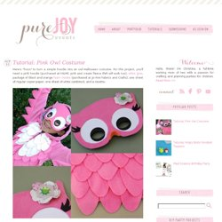 Pure Joy Events: Tutorial: Pink Owl Costume