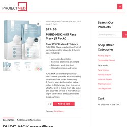 PURE-MSK N95 Face Mask (5 Pack) - ProjectMed