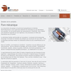 Pure mécanique - Thot Cursus