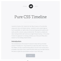 Pure CSS Timeline – Notebook