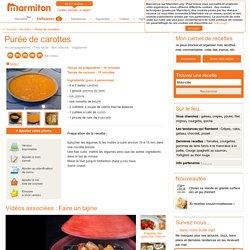 Purée de carottes : Recette de Purée de carottes