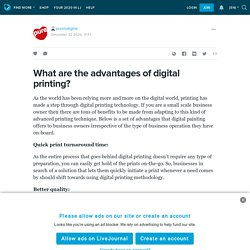 What are the advantages of digital printing?: purelydigital — LiveJournal