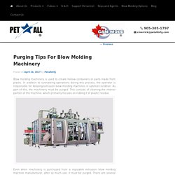 Purging Tips For Blow Molding Machinery