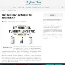 Top 3 des meilleurs purificateurs d'air : comparatif 2020 - Le Juste Choix