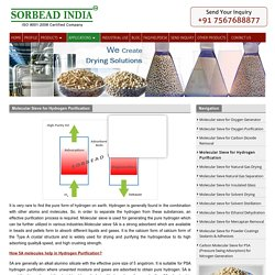 Hydrogen Purification Molecular Sieve Desiccants