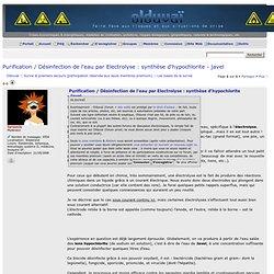 Désinfection par Electrolyse -> Javel