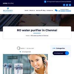 RO water purifier in Chennai @ 6380500600