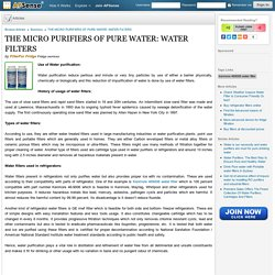 THE MICRO PURIFIERS OF PURE WATER: WATER FILTERS by FilterFor Fridge