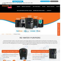 RO Water Purifiers, Buy Best RO Water Purifier by Moonbow in India