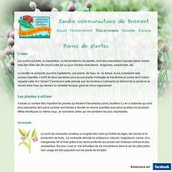 Purins de plantes - Jardin Bromont