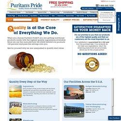 Puritan's Pride Quality & Potency Guaranteed