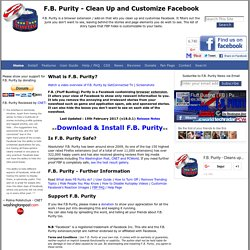 Facebook Purity ; Cleaning Your Facebook Homepage From Applicati