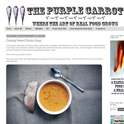 purplecarrotkc.com: Creamy Sweet Potato Soup