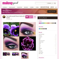 Two bold, purple flower looks with MUFE
