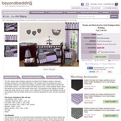 Purple and Black Kaylee Girls Boutique Baby Bedding - 9 pc Crib Set only $229.99