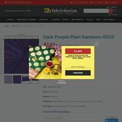 Dark Purple Plain Santoon-0323 – Fabric Duniya