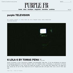 purple TELEVISION