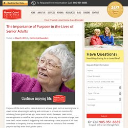 Why Purpose is Important in Senior Living