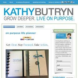 on purpose life planner