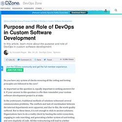 Purpose and Role of DevOps in Custom Software Development