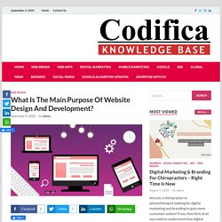 What Is The Main Purpose Of Website Design And Development?