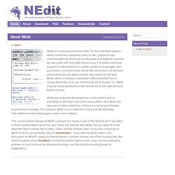 NEdit - the multi-purpose X Window System editor