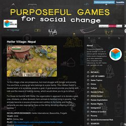 Purposeful Games for Social Change