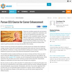 Pursue CEU Course for Career Enhancement