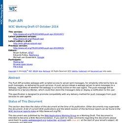27/10 - W3C Push API