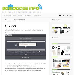 Push sur IPX800 V3