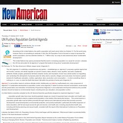 UN Pushes Population Control Agenda