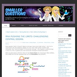 Breakdown: Science's Smaller Questions: RNA pushing the limits: Challenging Central Dogma