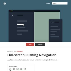 Full-Screen Pushing Navigation in CSS and jQuery