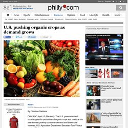 U.S. pushing organic crops as demand grows