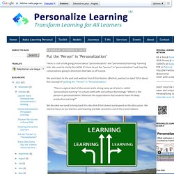 """Put the """"Person"""" in """"Personalization"""""""