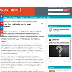 Put an End to Plagiarism in Your Classroom
