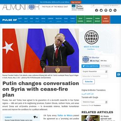 Putin changes conversation on Syria with cease-fire plan