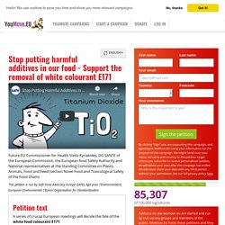 Stop putting harmful additives in our food - Support the removal of white colourant E171